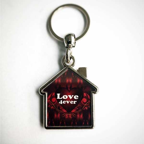 Valentinstag Schlüsselanhänger personalisiert Haus