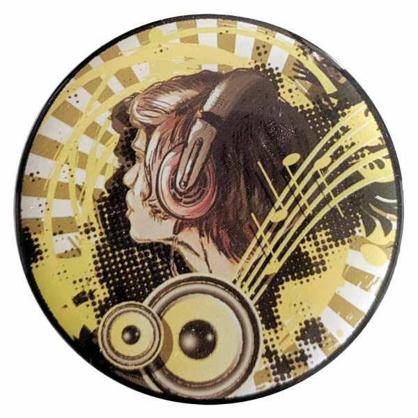 DJ Music 3D Aufkleber / Handy Sticker