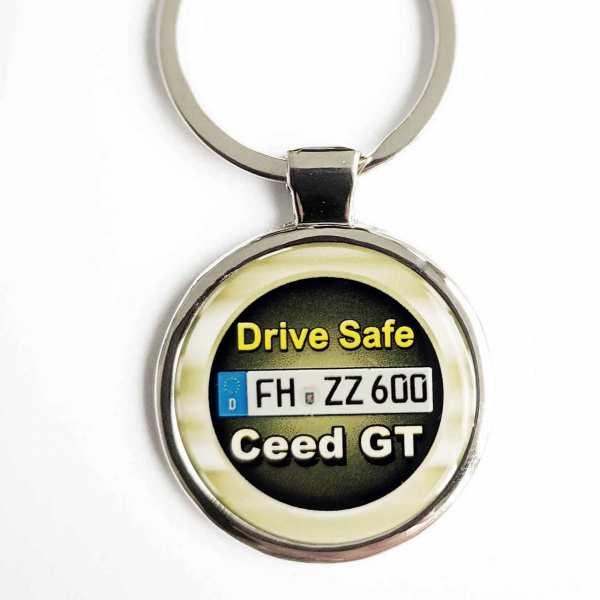Kia Ceed GT Drive Safe Schlüsselanhänger & Kennzeichen & Gravur