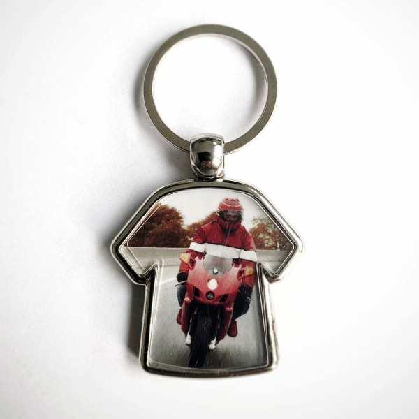 Motorrad T-Shirt Schlüsselanhänger personalisiert opt. mit eigenem Text