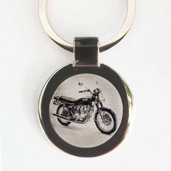 Honda CB 550F Motorrad Schlüsselanhänger personalisiert - original Fotogravur