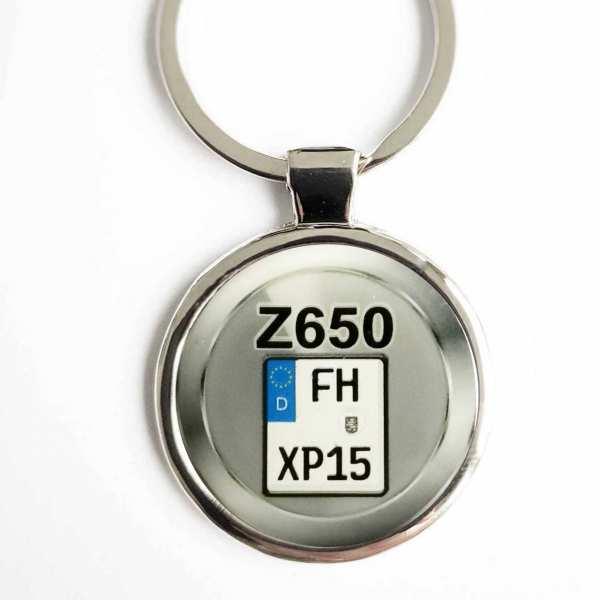 Kawasaki Z650 Kennzeichen Schlüsselanhänger personalisiert & Gravur