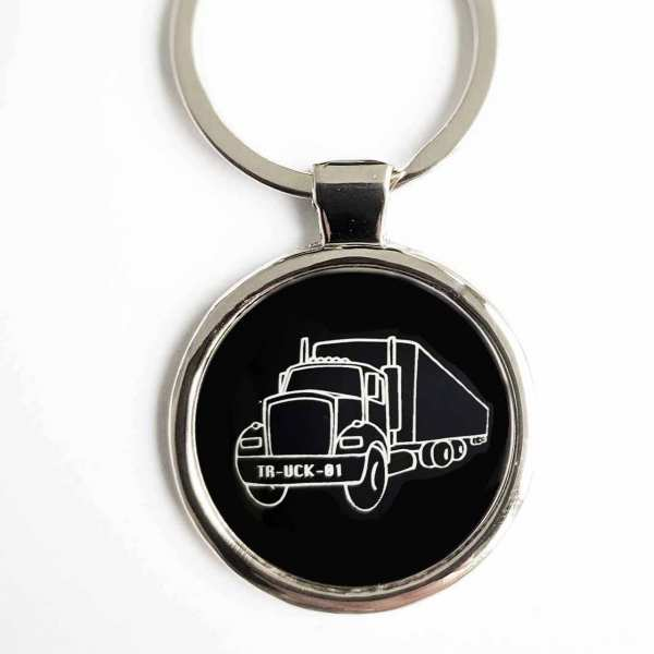 Truck Gravur Schlüsselanhänger personalisiert - original Fotogravur