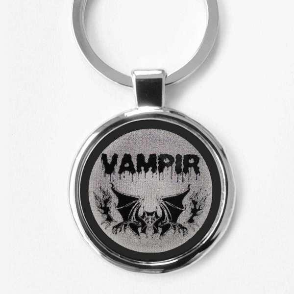 Vampir Gravur Schlüsselanhänger personalisiert - original Fotogravur