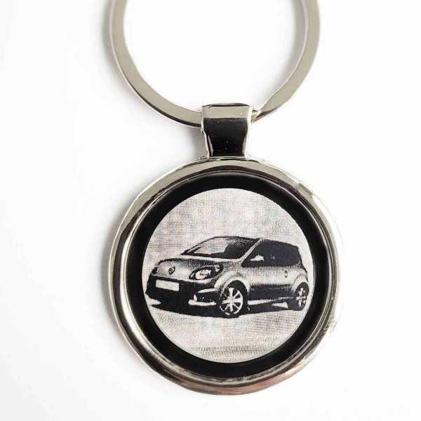 Renault Twingo 2009 Schlüsselanhänger als Fotogravur mit Text