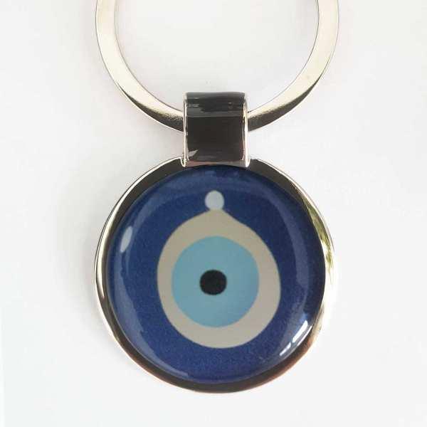 Türkisches Auge Schlüsselanhänger personalisiert