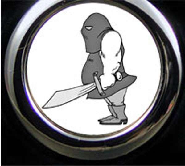 Henker Cartoon Schlüsselanhänger personalisiert