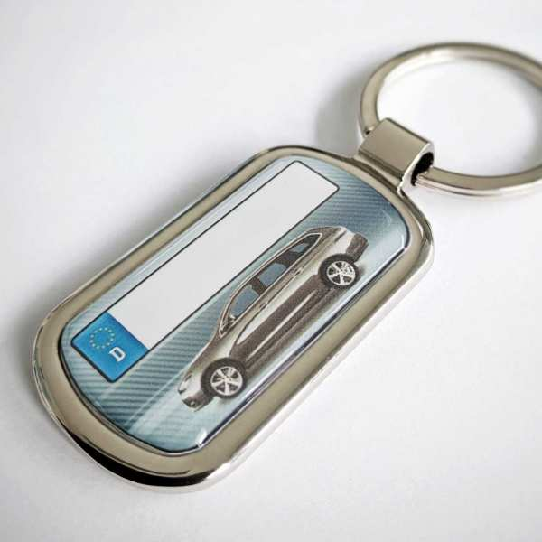 Peugeot 308sw Schlüsselanhänger & Kennzeichen & Gravur auf der Rückseite