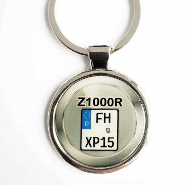 Kawasaki Z1000R Kennzeichen Schlüsselanhänger personalisiert & Gravur