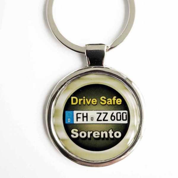 Kia Sorento Drive Safe Schlüsselanhänger personalisiert & Kennzeichen & Gravur