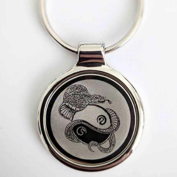 Yin Yang Schlüsselanhänger - original Fotogravur