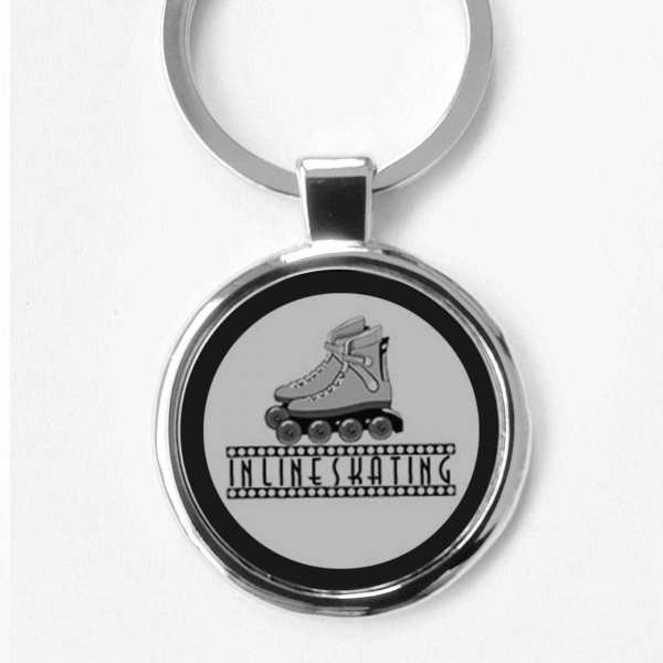 Inlineskating Schlüsselanhänger personalisiert mit Gravur