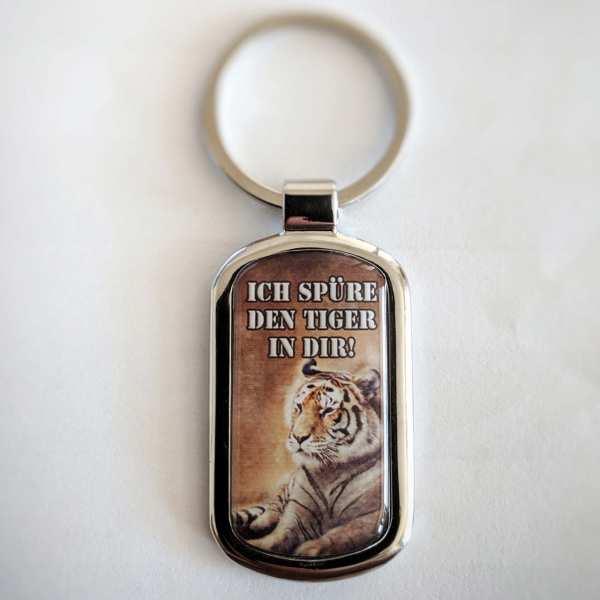 DER TIGER IN DIR Fotogeschenk Schlüsselanhänger mit eigenem Text