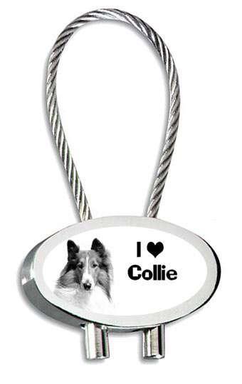 Hund Collie Schlüsselanhänger mit Gravur