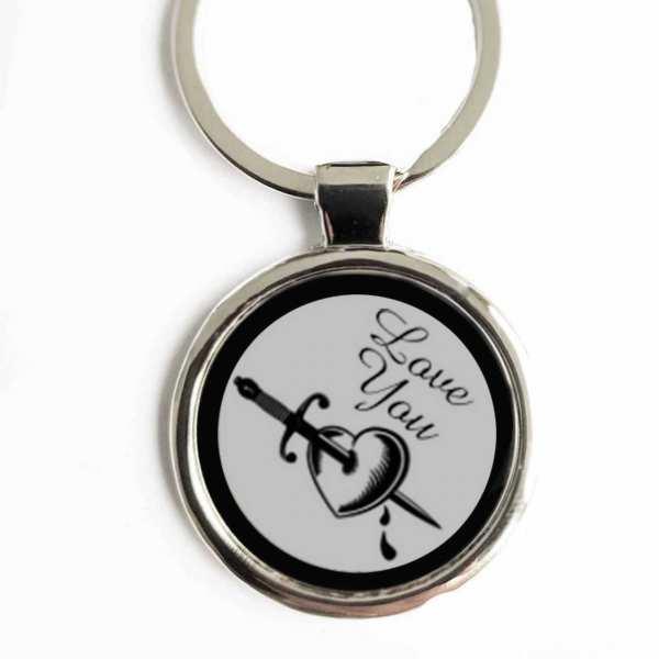 Love You ♥ Gravur Schlüsselanhänger mit eigenem Gravurtext