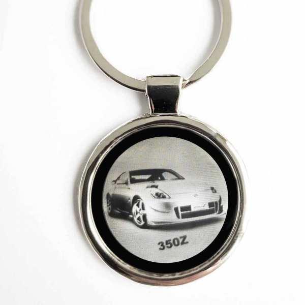 Nissan 350Z Auto Gravur Schlüsselanhänger personalisiert - original Fotogravur