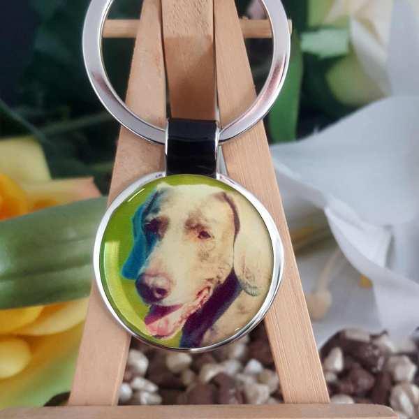 Foto Schlüsselanhänger mit deinem Hundefoto