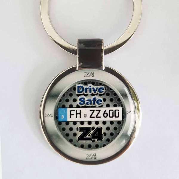 BMW Z4 Design Schlüsselanhänger personalisiert & Kennzeichen & Gravur