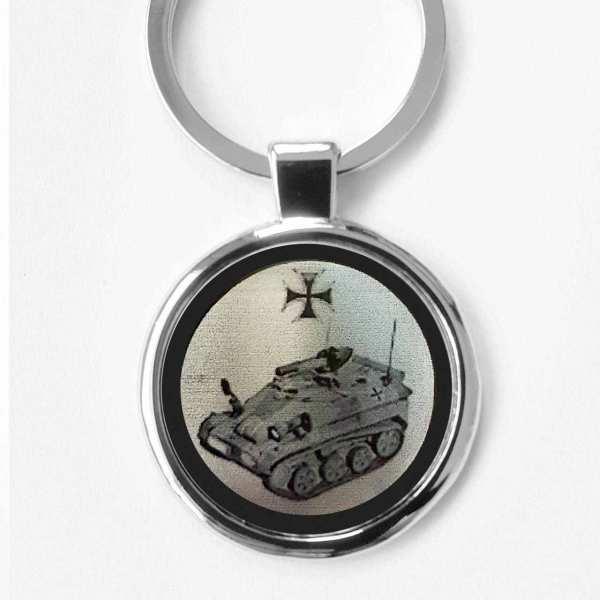 Wiesel Panzer Schlüsselanhänger personalisiert