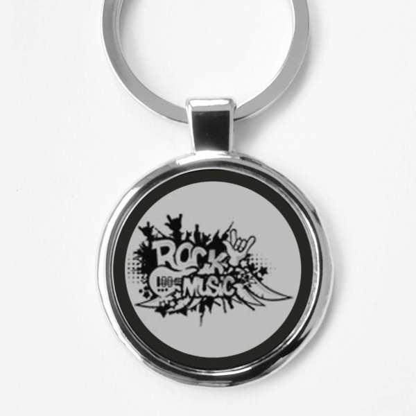 Rock Music Gravur Schlüsselanhänger personalisiert