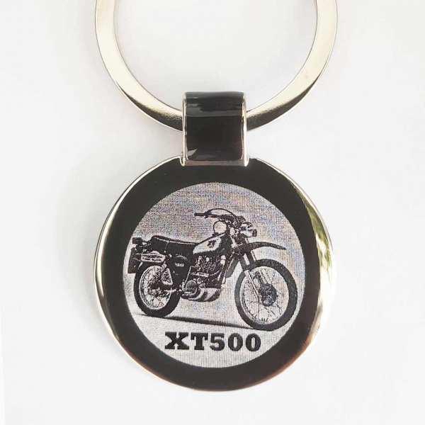 Yamaha XT500 Gravur Schlüsselanhänger personalisiert - original Fotogravur