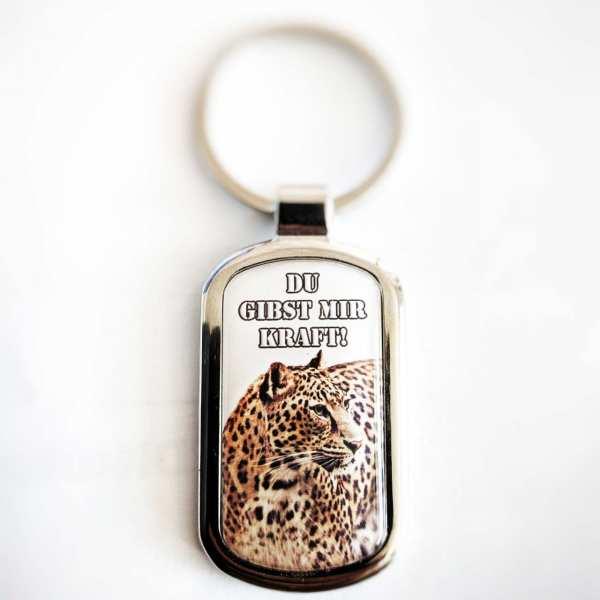 Leopard Schlüsselanhänger & Gravur