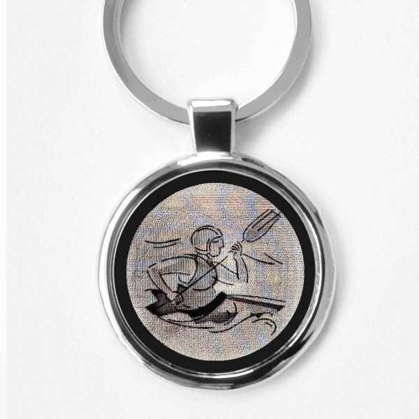Kanu Gravur Schlüsselanhänger personalisiert - original Fotogravur