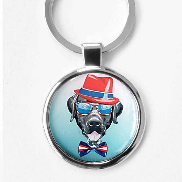 Labrador Gentleman Gravur Schlüsselanhänger