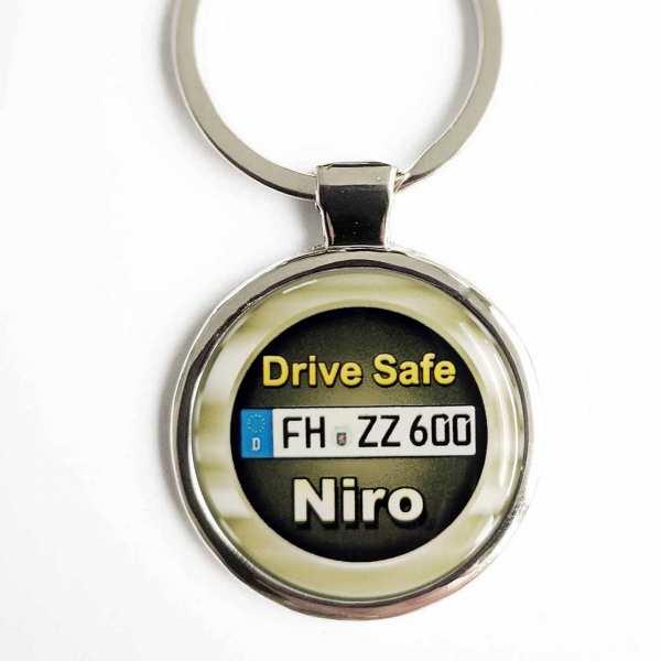 Kia Niro Drive Safe Schlüsselanhänger & Kennzeichen & Gravur