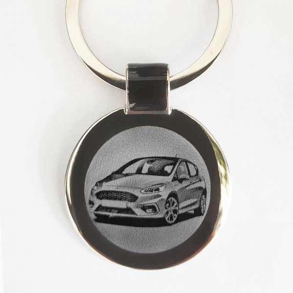 Ford Fiesta Modell 2017 Schlüsselanhänger personalisiert - original Fotogravur
