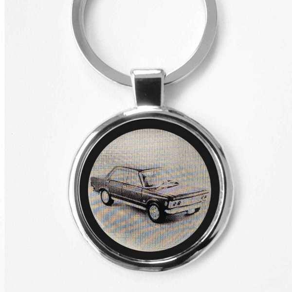 Fiat 130 Schlüsselanhänger personalisiert - original Fotogravur