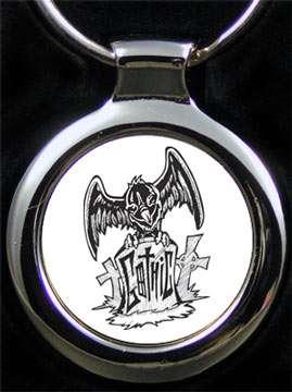 Schlüsselanhänger Gothic mit Gravur
