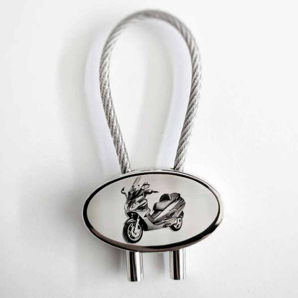 Piaggio X9 Roller Gravur Schlüsselanhänger personalisiert - original Fotogravur