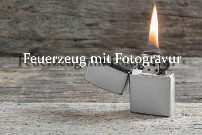 Fotogravur Feuerzeug mit Photograver