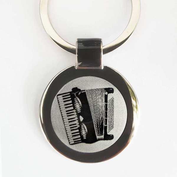 Akkordeon Schlüsselanhänger personalisiert - original Fotogravur