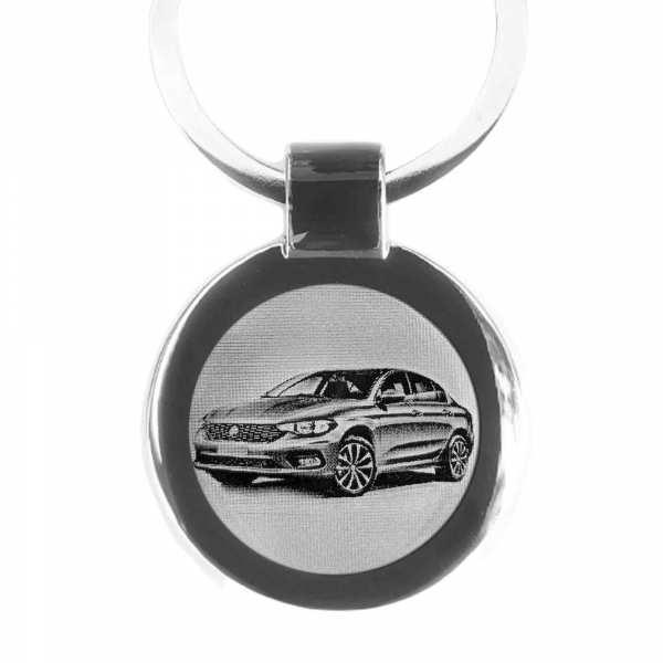 Fiat Tipo Gravur Schlüsselanhänger personalisiert - original Fotogravur