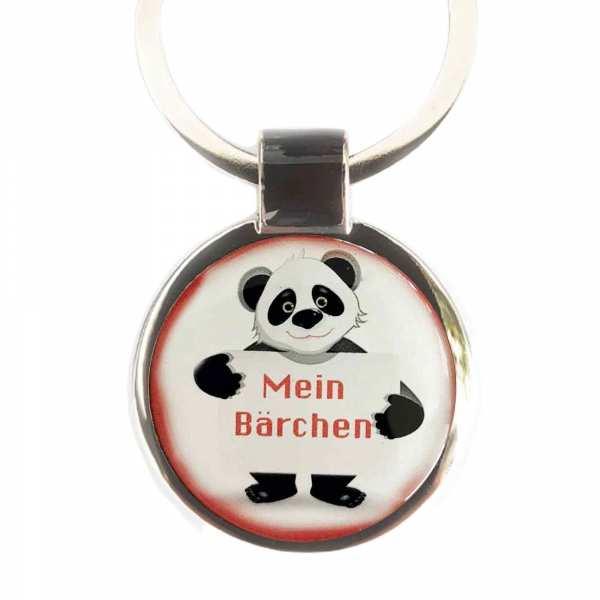 Panda Bärchen Schlüsselanhänger personalisiert mit persönlichem Gravurtext