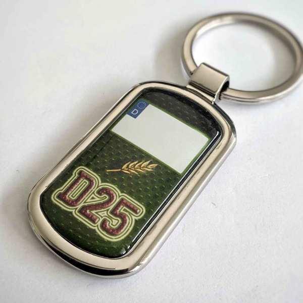 Deutz Kennzeichen D25 Schlüsselanhänger personalisiert & Gravur Rückseite