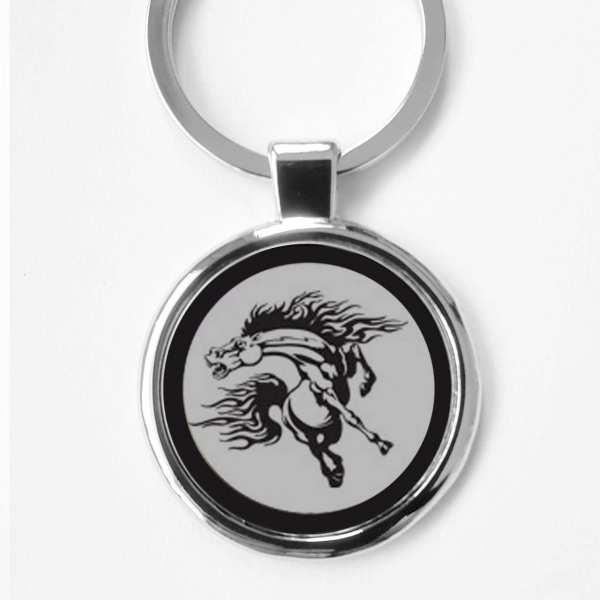 Wildpferd Gravur Schlüsselanhänger personalisiert