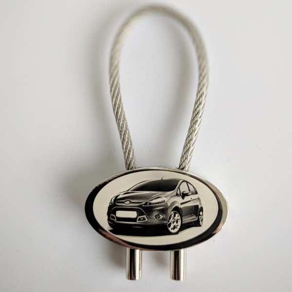 Ford Fiesta Schlüsselanhänger personalisiert - original Fotogravur