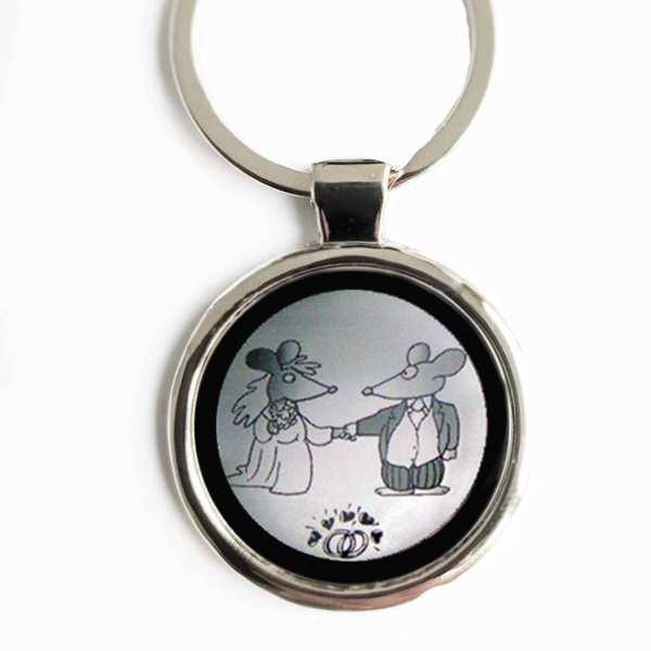 Hochzeitspaar Gravur Schlüsselanhänger personalisiert