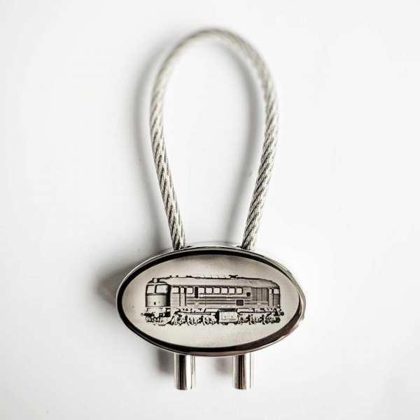 Lok BR 120 Schlüsselanhänger mit Gravur - original Fotogravur
