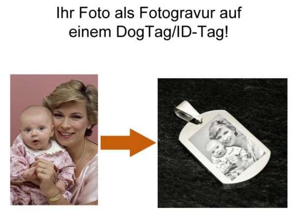 Kette mit Gravur | Dog Tag Fotogravur Anhänger aus Edelstahl